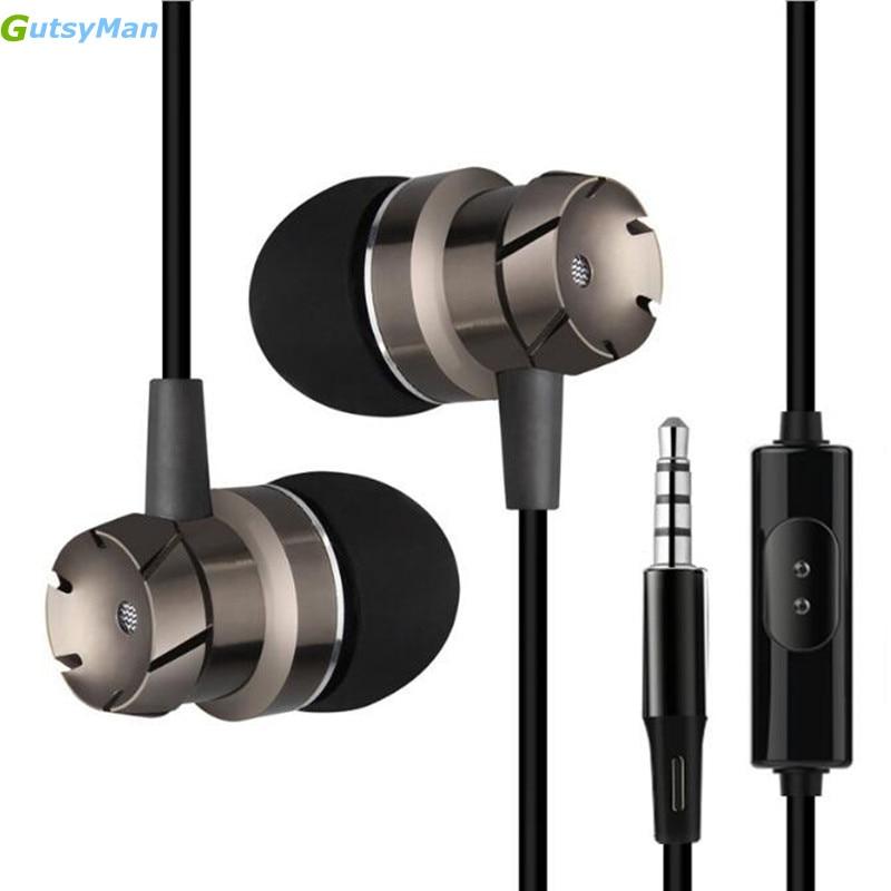 GutsyMan GM10 3.5mm Jack gear Metal Earphone Bass Headset For XiaoMI M2 M5 Samsung iPhone 5 6 7 MP3 MP4 With MIC смарт часы samsung gear s2 black