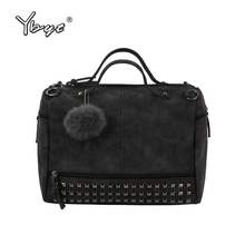 YBYT brand 2017 new fashion casual women handbag hotsale ladies large capacity solid rivet bag shoulder messenger crossbody bags