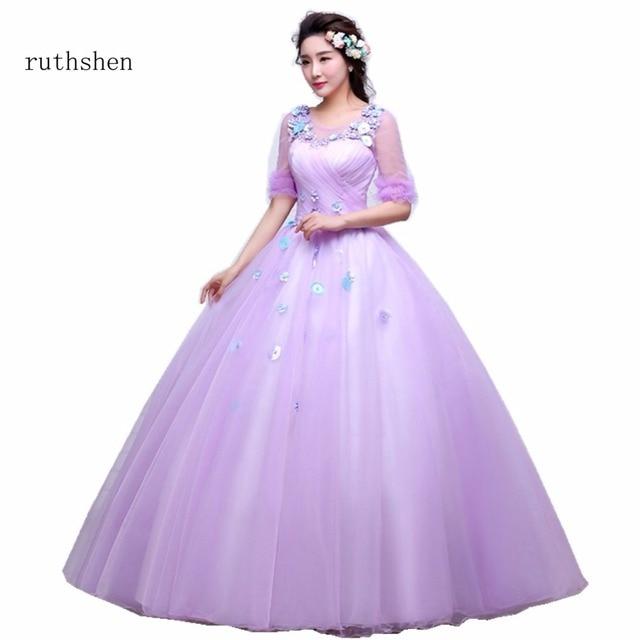 609e7c0fbd6 ruthshen Stunning Vestidos De Dulces 16 Quinceanera Dresses Light Purple  With Ruffle Flowers Sweet 15 Girls Ball Gowns 2018 New