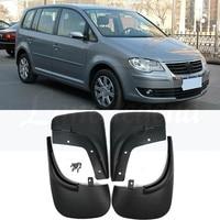 Front Rear Car Mud Flaps For VW Touran Caddy 2004 2010 Mudflaps Splash Guards Mud Flap Mudguards Fender 2009 2008 2007 2006 2005