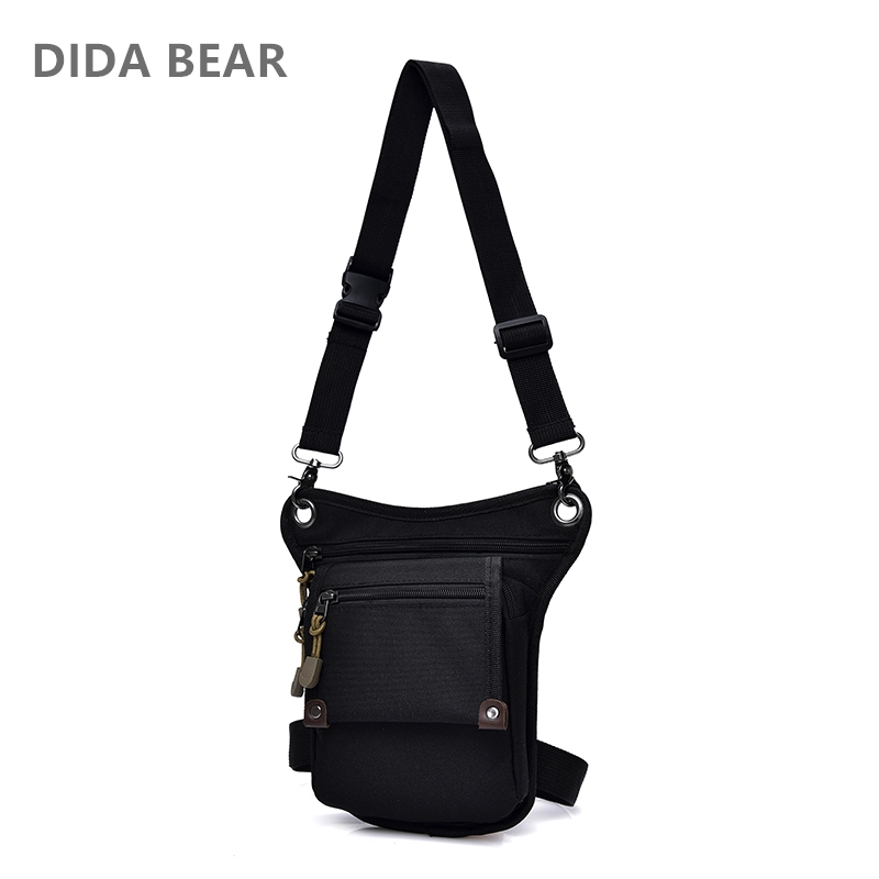 DIDA BEAR 2018 New Men Canvas drop waist bags Leg pack bag for work Men Messenger bags Multifunction Shoulder Bag Black Khaki stylish ladies pendant silver plated necklace