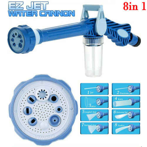 Multifunctionele sprinkler 8 IN 1 Tuinslang Nozzle Water Zeepdispenser Pomp Spuitpistool Auto Wasmachine Reinigen