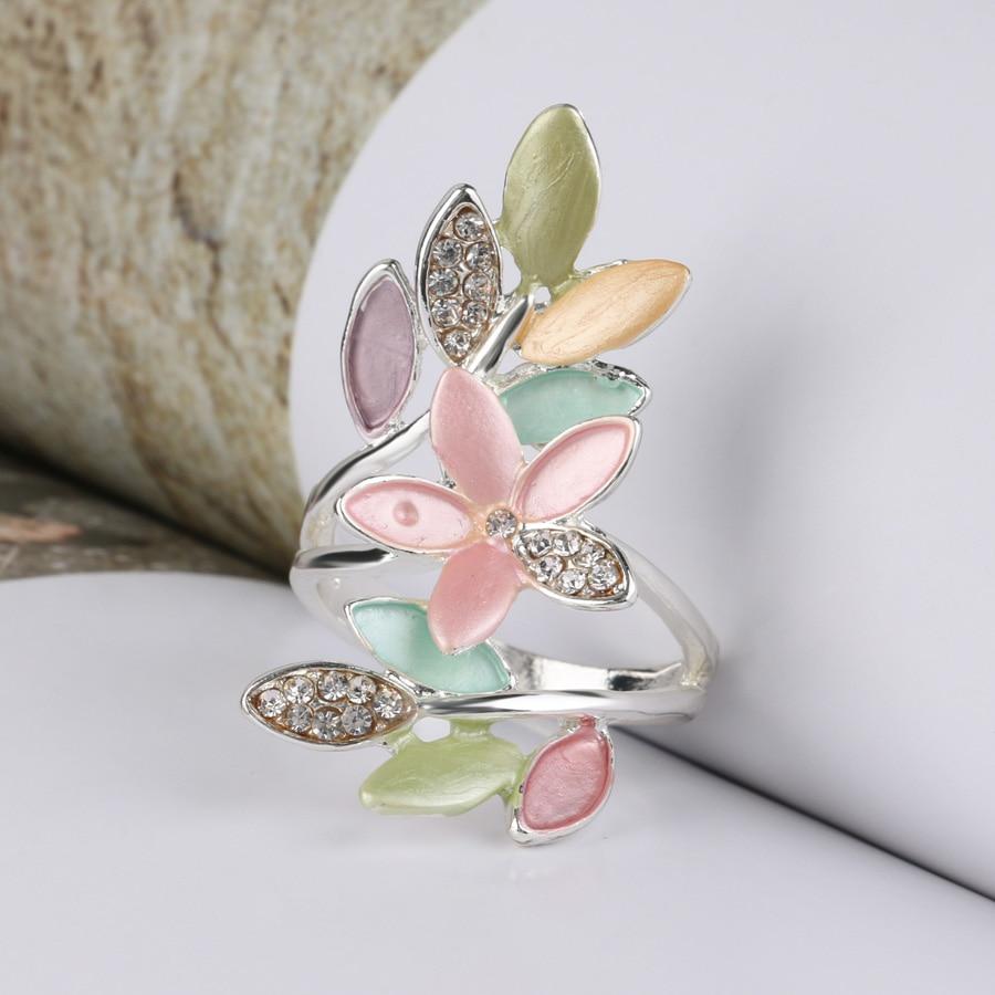 2017 Nye trendy flerfarvede emalje ringer til kvinder Crystal bryllup - Mode smykker - Foto 5