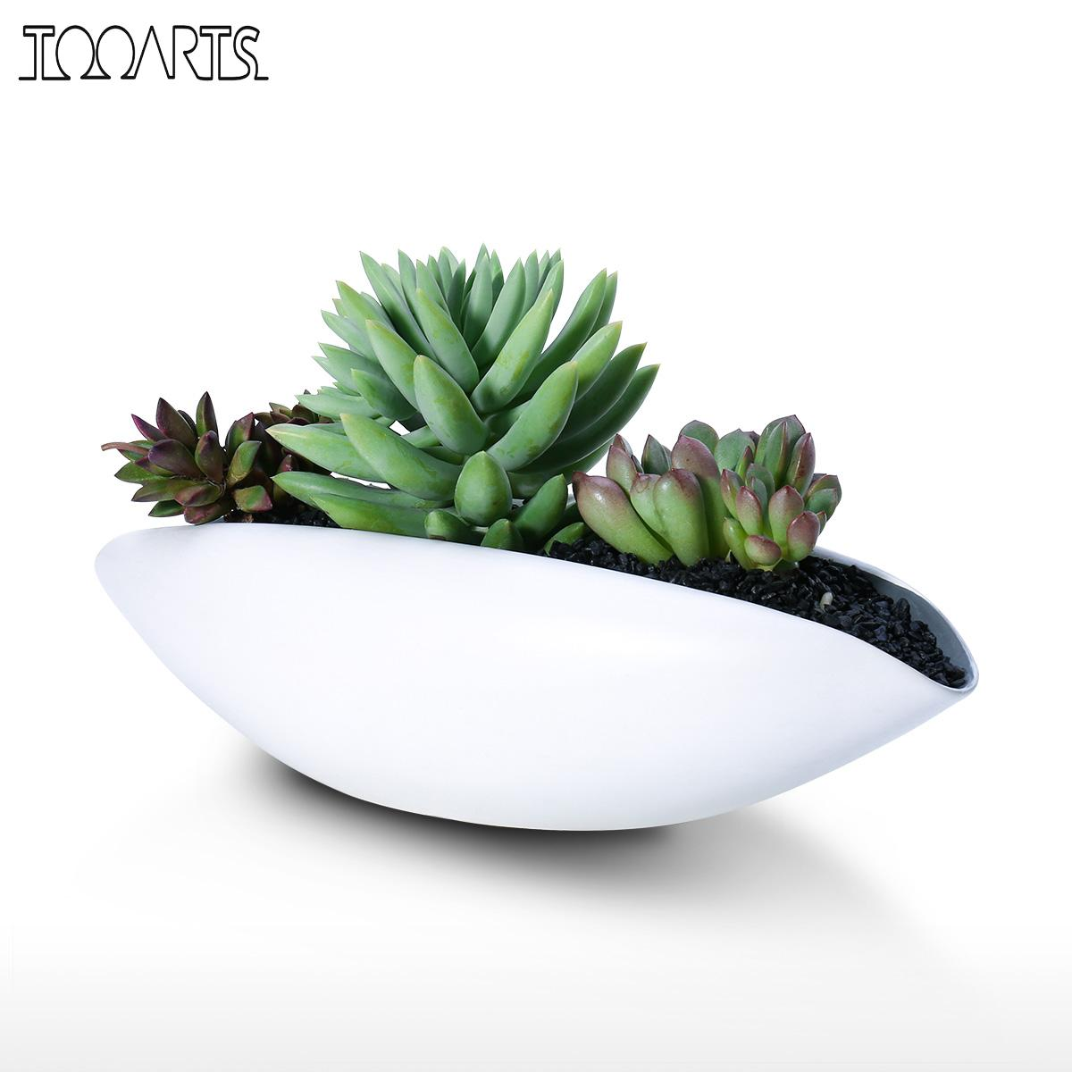Tooarts Ceramic Vase Succulent Planter Pot Decorative Centerpiece Plant For Home Or Wedding Modern Bowl Decor Flowerpot In Flower Pots Planters From