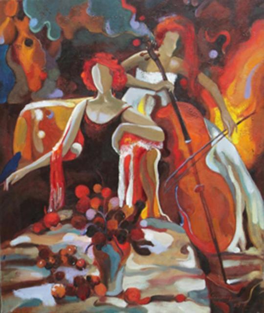 En Gros Abstraite Musiciens Moderne Toile Peintures  LHuile Mur