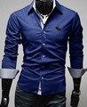Hombres del estilo ropa de los hombres de manga larga camisa de Negocios camisa solid venta caliente camisas para hombres C32