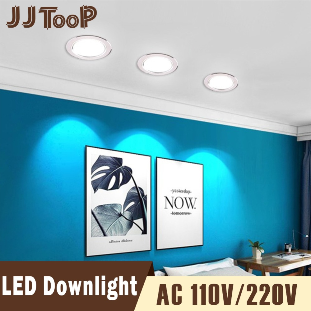 LED Downlight 220V 230V 240V 110V LED Spot Lighting Round Recessed Lamp 3W 5W 7W 9W 12W 15W Led Bulb Bedroom Kitchen Indoor (China)