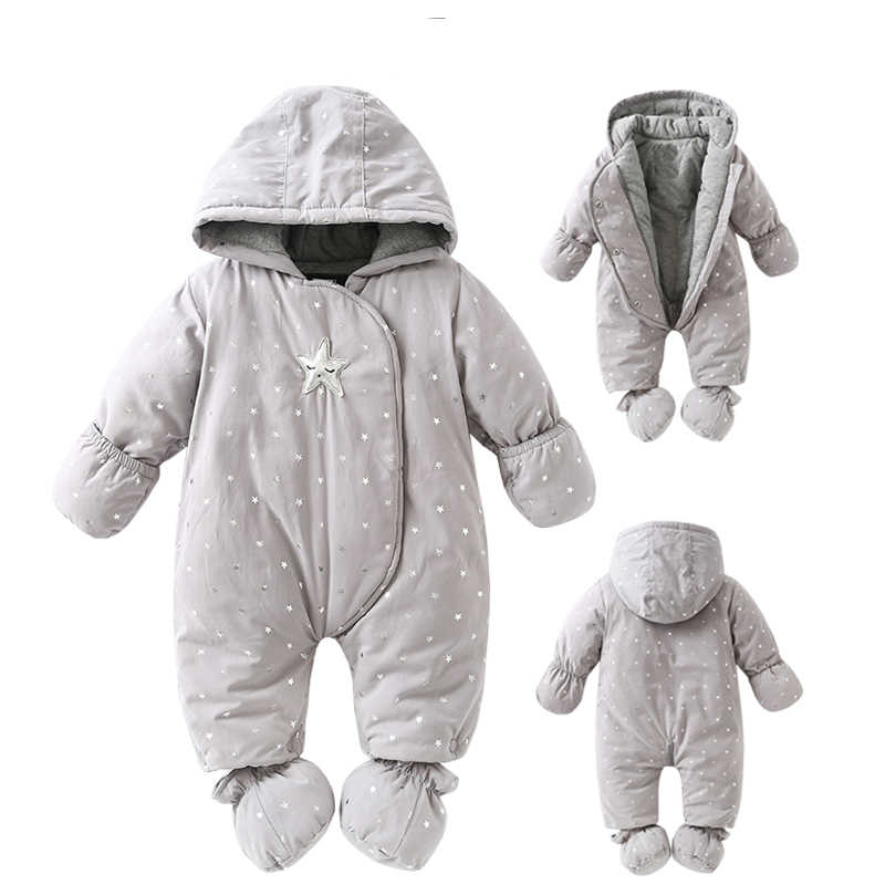 5c01f4b8c0e4 Детский комбинезон для новорожденных, зима 2018, зимний комбинезон для  маленьких ...
