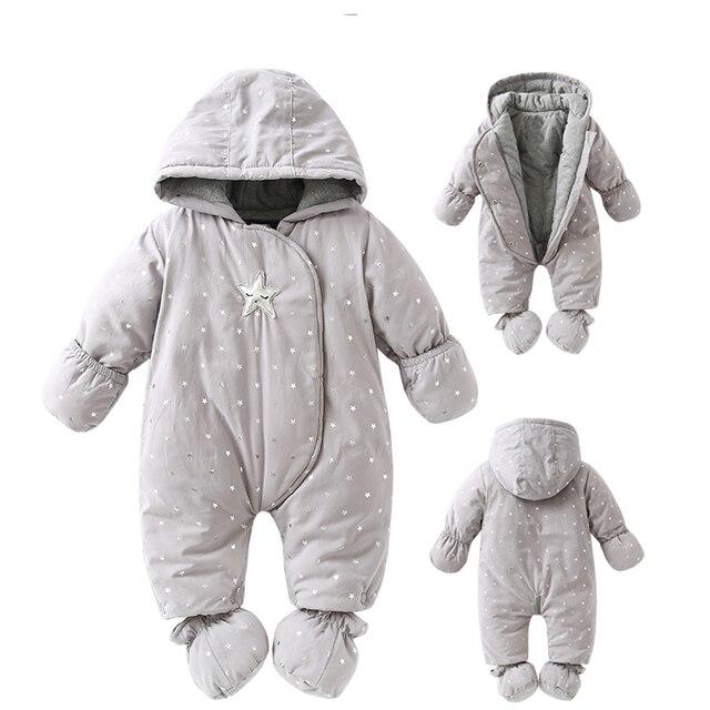 Newborn baby romper Winter 2018 baby girl boy Snowsuit warm baby girls clothing hoodies Newborn overalls clothes kids children j