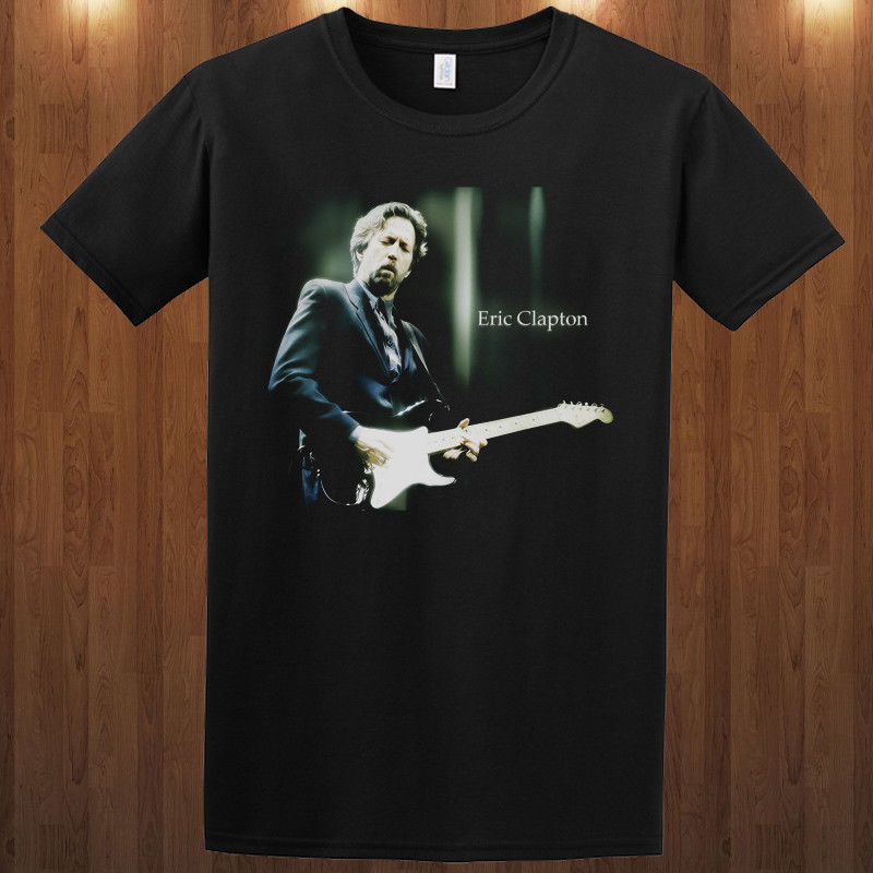 Eric Clapton T-shirt rock & blues guitarist singer & songwriter S M L XL-3XL tee image