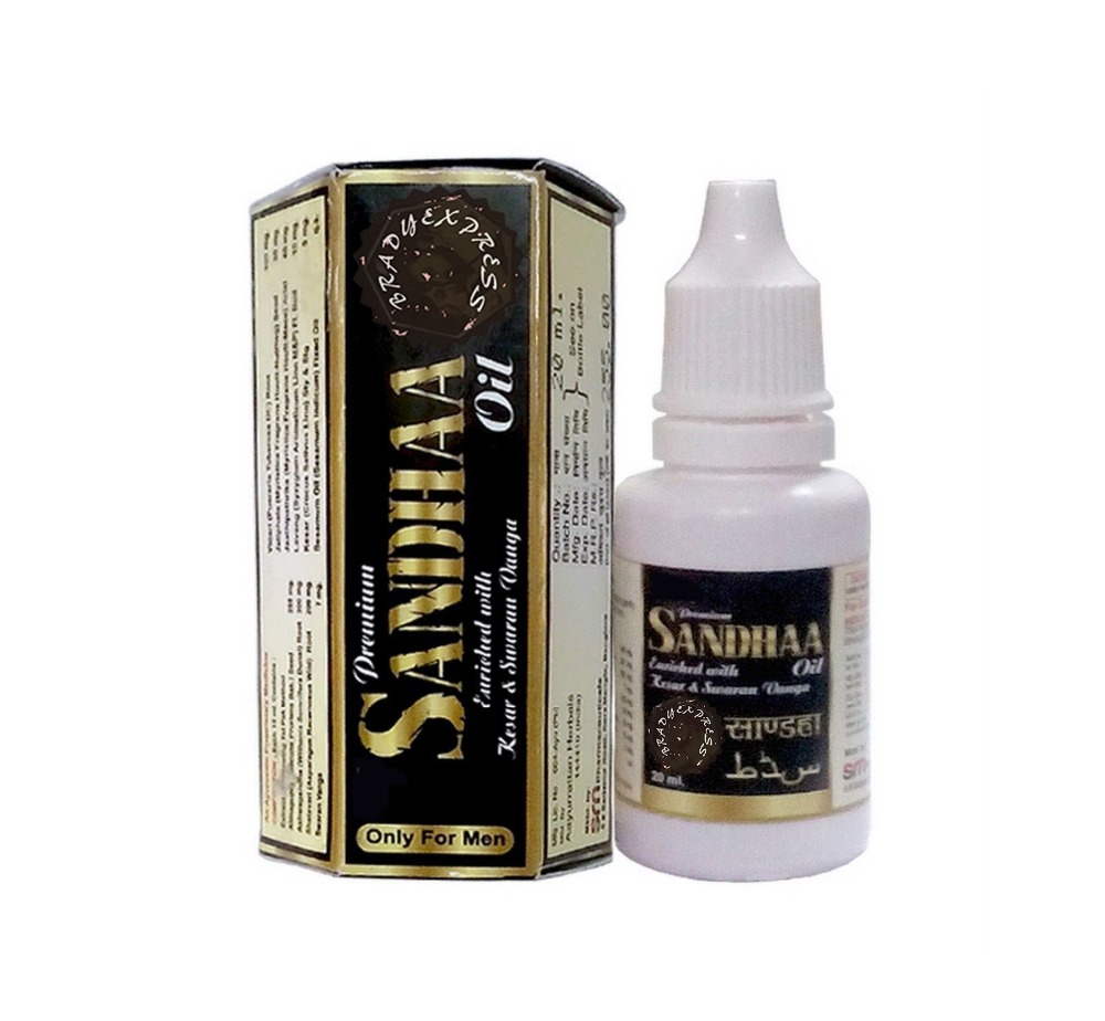 Free Shipping 2 X 100%Ayurvedic Premium Sandha Sandhaa Saandhha Sanda Massage Oil For Men 20ml