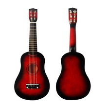 23 Inch Children Basswood Guitar Wood Acoustic Guitar Instruments Strings Musical Instruments for Children Kids Gift New