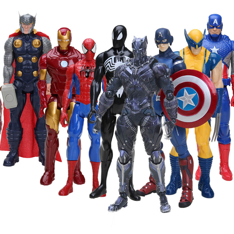 the avengers Hero Series Action Figure Super Heros Captain America Ironman Spiderman American Movie Anime PVC Figure Toy Щенячий патруль