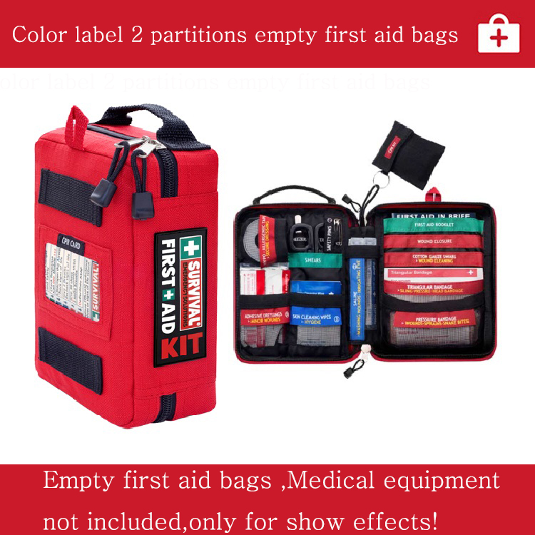 Empty First Aid Kit Without Content Medical Bags Outdoors Survival Car First -Aid Kit Emergency Kit Treatment 2 Sections цена