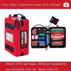 Пустая аптечка без содержания медицинские сумки на открытом воздухе Выживание Автомобиль Аптечка первой помощи аварийный комплект