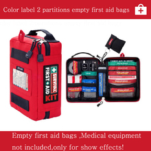 Empty First Aid Kit Without Content Medical Bags Outdoors Survival Car First -Aid Kit Emergency Kit Treatment 2 Sections