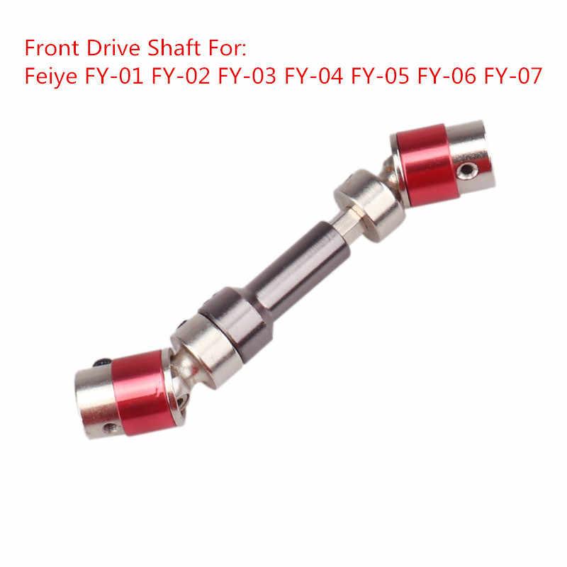 Wltoys 12428 12423 RC Car Upgrade Metalen Onderdelen Aandrijfas Universele Transmissie As Rockerarm Gear Feiyue FY-01/02/ 03/04/05