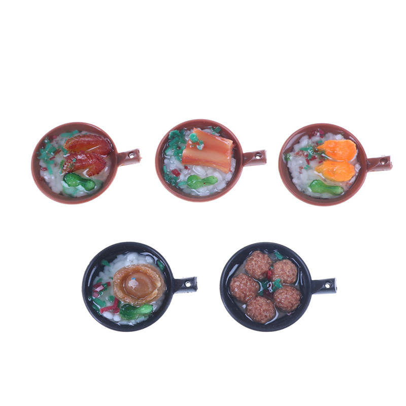 1.5*3.5cm 1 PC New Artificial Food Keychain Mini Casserole Rice Cooker Key Ring Small Child Toy Cute Gifts For Kids