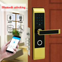 Security Smart Bluetooth Code Door Lock Keyless Digital Touch Screen Keypad Combination Door Lock For Smart Home Apartment