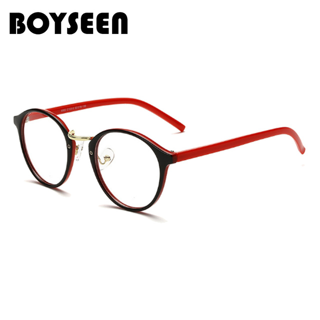 2b6e5d4049 BOYSEEN Classic Women Round Eyeglasses Frame Brand Designer Fashion Men  Nail Decoration Optical Glasses Reading Glasses