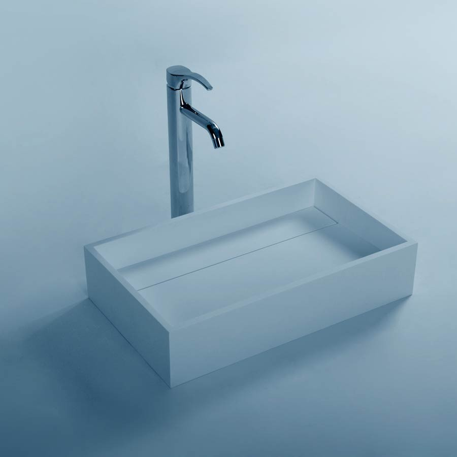 все цены на Rectangular Solid Surface Stone Wall Mounted Wash Sink Cloakroom Stone Wall Hung Wash Basin RS3866