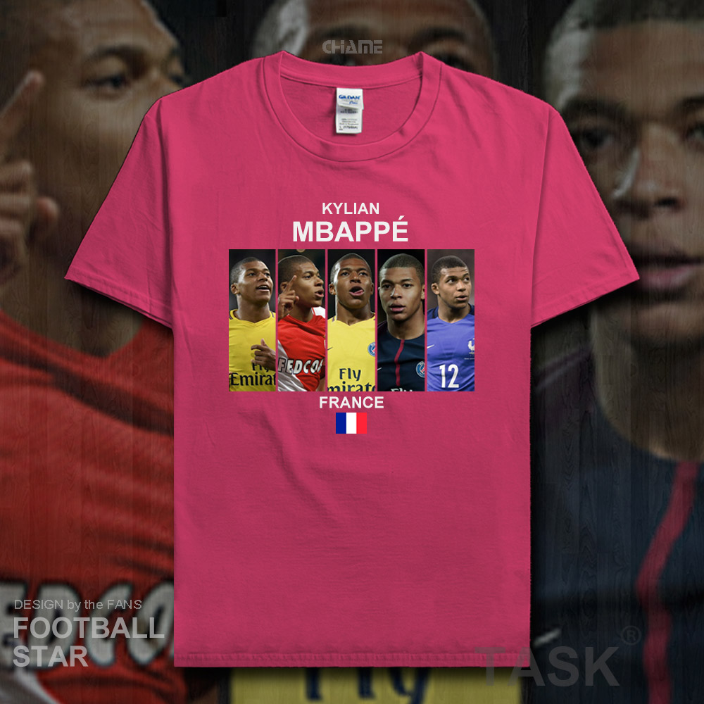 Kylian Mbappe t shirt 2018 jerseys France Paris footballer sweatshirt 100% cotton fitness t-shirt clothing casual gyms tees 20
