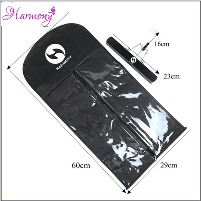 100sets With Logo Black Hanger Hair Extension Packing Suit Case Bags Hair Packaging For Hair Extension In Wig Stands From Hair Extensions Wigs On