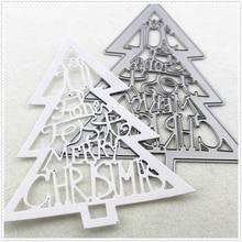 12.5*10.5CM Metal craft Multilayer Sweet Christmas tree paper die cutting dies for Scrapbooking/DIY Home decor halloween cards