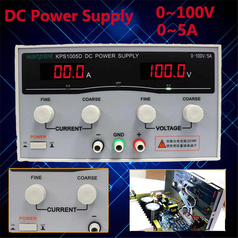 KPS1005D Adjustable Digital DC Laboratory Switching Power Supply 100V 5A 0.1V 0.01A DC Power Supply 3000pcs lot ss510f ss510 5a 100v smaf