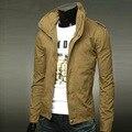 2016 высокое качество Повседневная марка мужчины новое прибытие Куртка весна мужские куртки хлопка с длинным рукавом мужская куртка манто homme