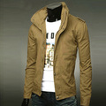 2016 de alta calidad de marca Informal hombres nueva llegada Chaqueta de primavera para hombre de algodón chaquetas de los hombres de manga larga chaqueta de manteau homme