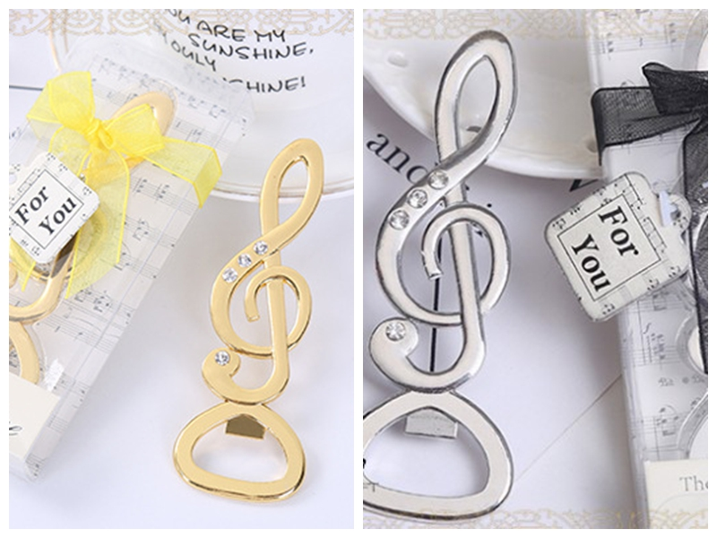 20 Pieces lot 2018 Newest Bridal shower Decoration favors Musical Note Bottle Opener Wedding Favors