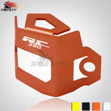 For KTM RC 390 Motorcycle CNC Rear Brake Fluid Reservoir Guard Cover Protect rc
