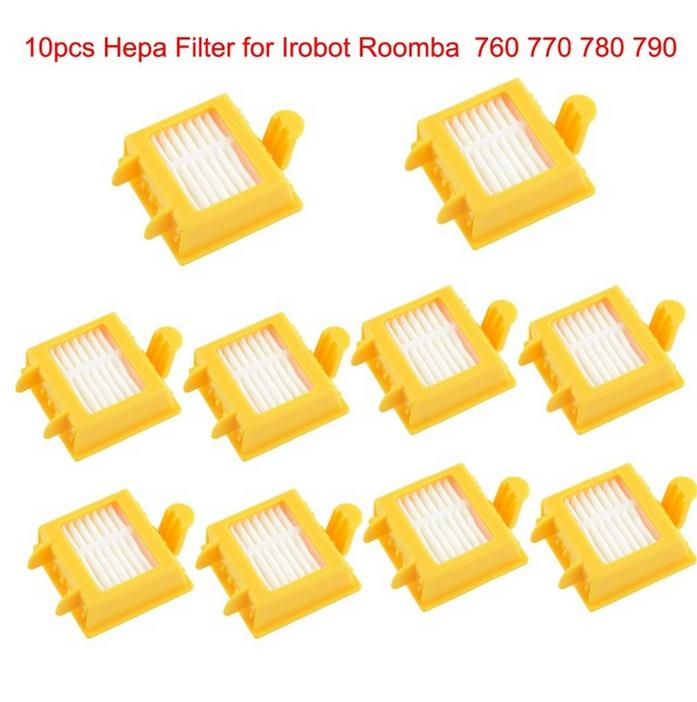 10 pcs Hepa Filters clean Dust filter kit for iRobot Roomba 700  700 Series 760 770 780 790 Free Shipping Replacement