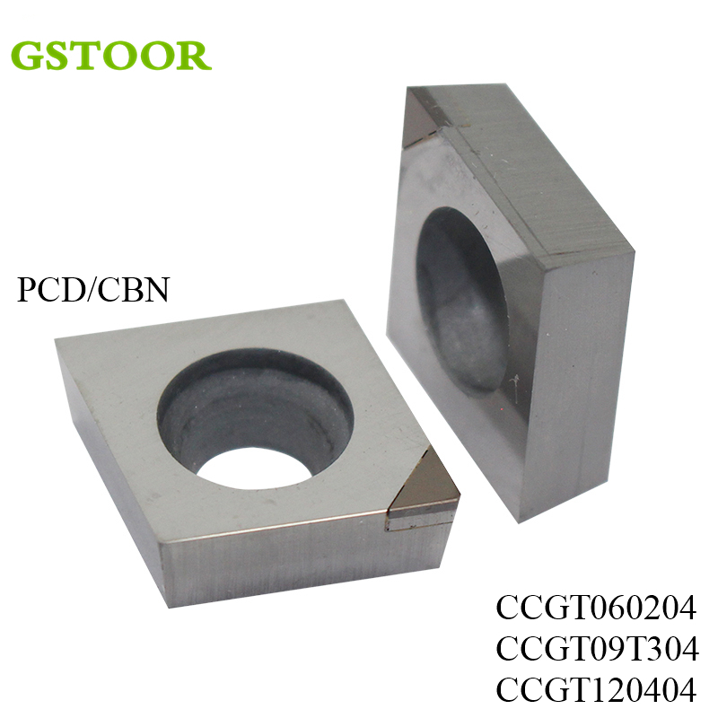 2PCS CCGT PCD CBN Turning Tool Diamond Insert For External Turning Tool Turning Tool