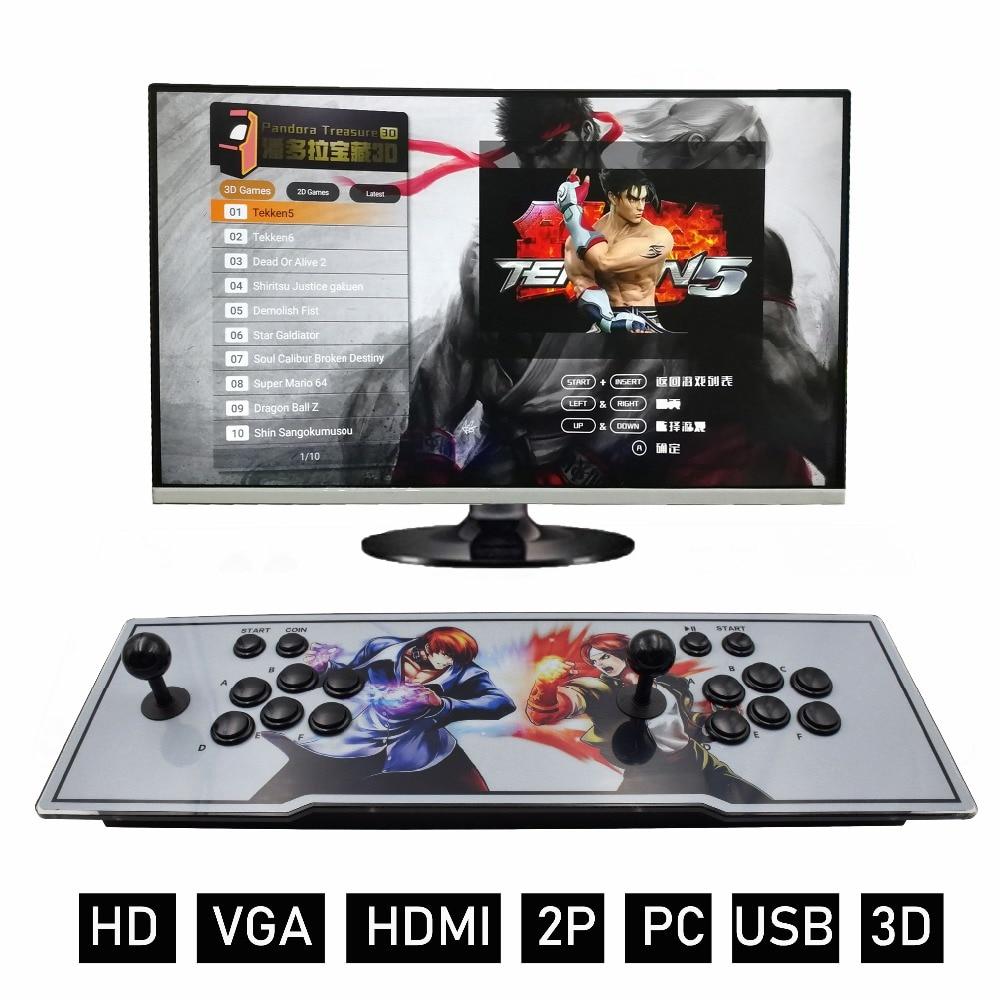 3D Pandora 2200 en 1 Console de jeu vidéo d'arcade 1920x1080 Full HD 2 joueurs Machine d'arcade avec carte PCB VGA/HDMI à TV