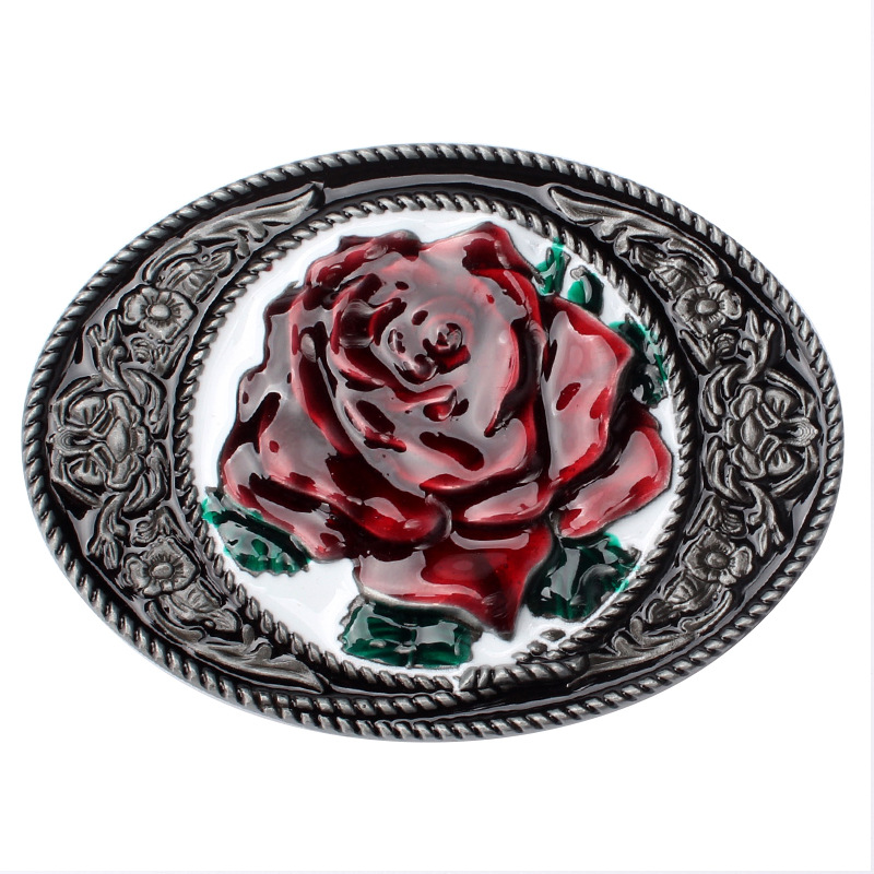 Flower Pattern Belt Buckle Peony Pattern Belt Head