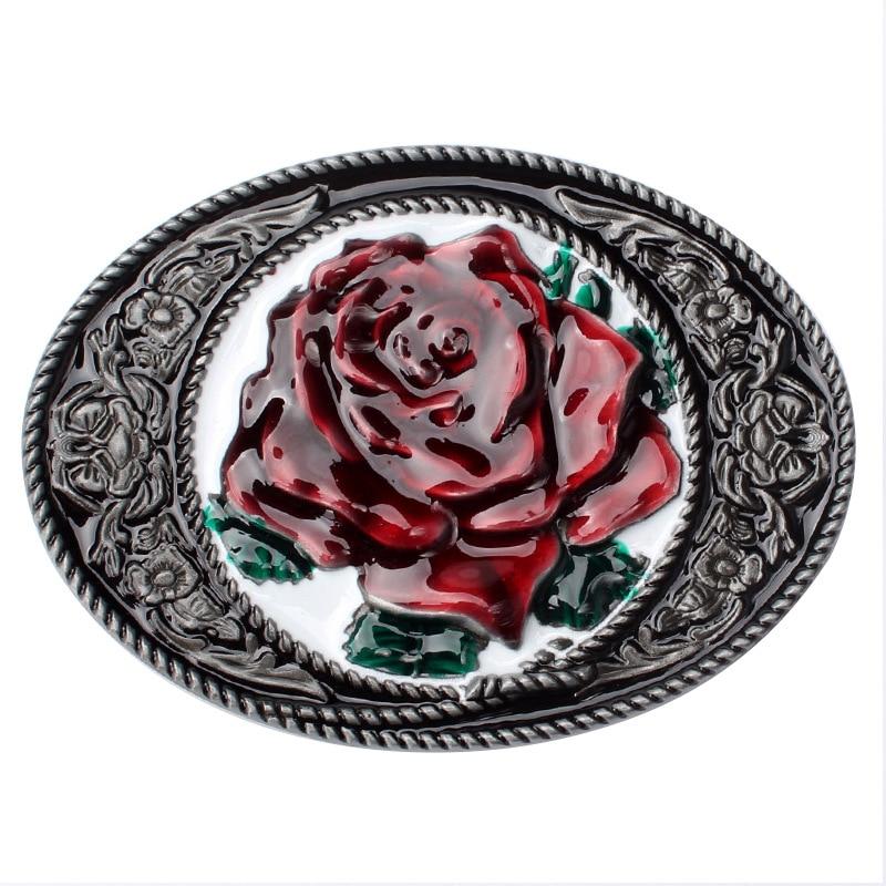 Flower Pattern Belt Buckle Peony Pattern Belt Head