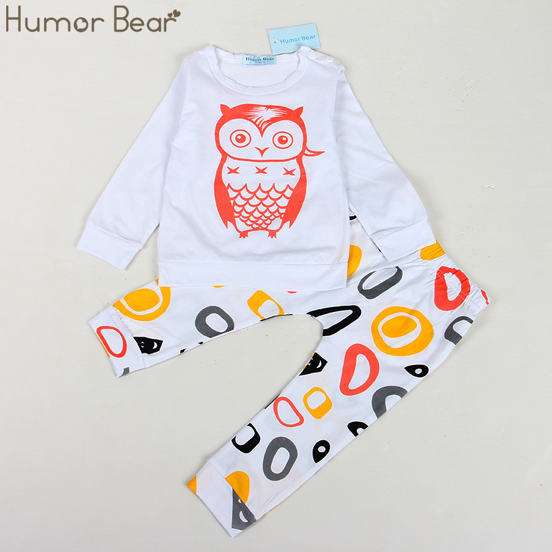 Humor Bear New Spring Clothes Baby Boys girls Clothing Sets long sleeve CARTOON T-Shirt+ pants 2pcs suit infant clothing humor bear baby girl clothes new spring and autumn long sleeve t shirt pink princess dress kids clothes girls clothing
