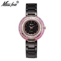Miss Fox Brand Top Fashion Luxury Super Cool Women Quartz Watch Ladies Crystal Watches Resistant Ceramic Clock Relogio Feminino