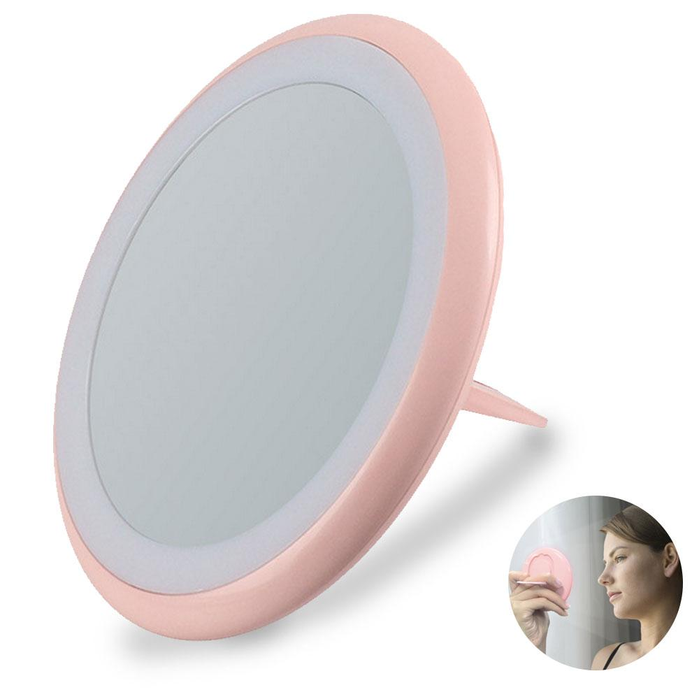 Small Lighted Makeup Mirror.Us 10 07 30 Off Led Makeup Mirror Magnifying Mirror Lighted Travel Makeup Mirror Small Makeup Mirror With Hand Held Ring Light Brightness In Makeup
