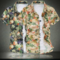 2015 man han edition cultivate one's morality short sleeve shirts High - grade silk cotton, big yards men 's shirt