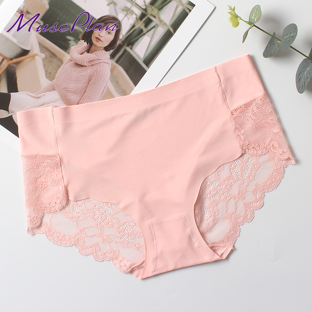 0bf2a2d1bbd2 women's sexy lace panties seamless cotton breathable panty hollow briefs  Plus Size girl best brand underwear