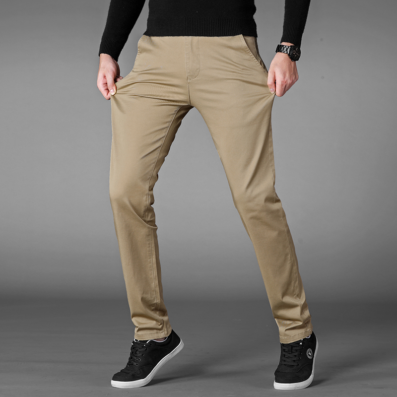 4 Colors Summer Thin Casual Pants Men 2019 New Business Elastic Cotton Slim Fit Trousers Male