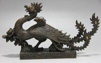 Chinese folk kupfer Bronze berühmte vermeil sparrow phoenix Vogel Fliegen Tier statue-in Statuen & Skulpturen aus Heim und Garten bei