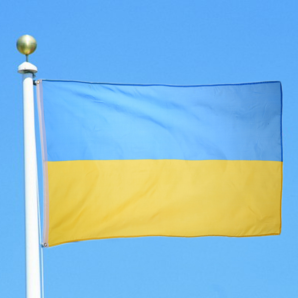 High Quality 90x150cm Ukraine Flag Polyester National Country Banner Home Decor Decoration
