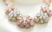 Fashion Jewelry Vintage Bohemia Women Necklaces & Pendants Link Chain Necklace Bubble Flower Gem Pendant Necklace For Women N418