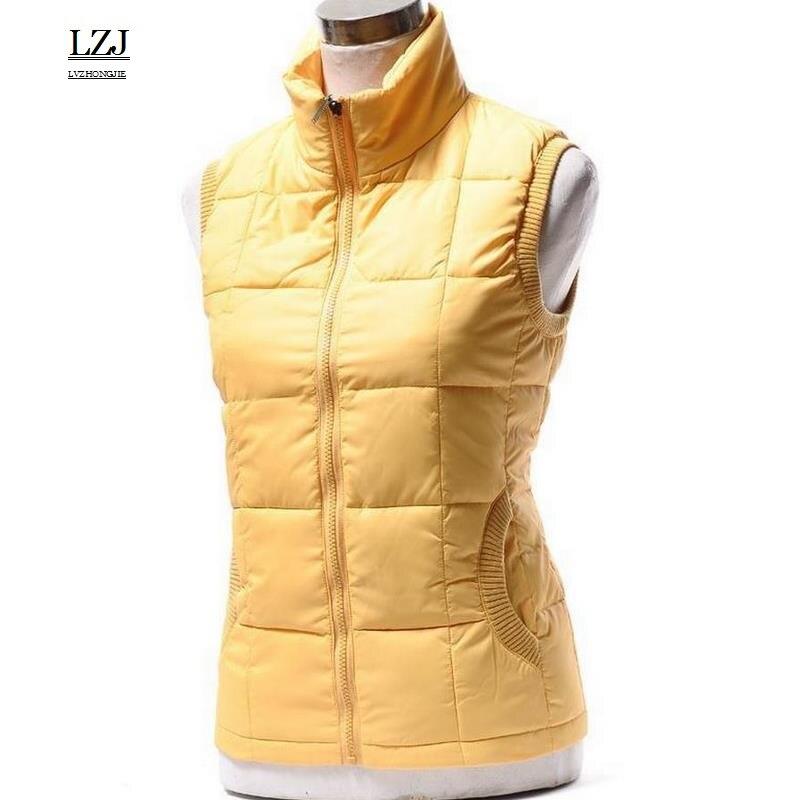 LZJ Spring and autumn Vest female outerwear new fashion sleeveless jacket women