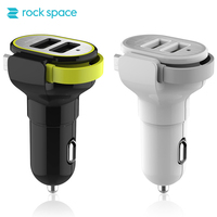 ROCK SPACE Dual USB Car Charger Quick Charge 3 4A Car Charger Adapter For IPhone Phone