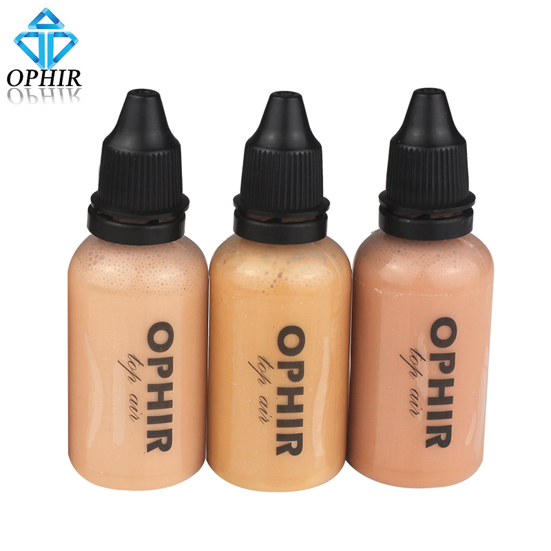 OPHIR Airbrush Makeup Foundation Inks 3 Colors Air Foundation for Face Paint Make-up Salon Cosmetic Makeup Pigment_TA104(2-4-5) бра arte lamp teatro a3964ap 1rd